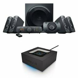 Logitech Z906 Surround Sound Speaker System Bundle with Blue